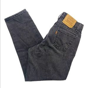 Vintage Black Levi's 560 Orange Tab Denim Jeans